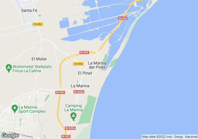 Map for San Fulgencio, San Fulgencio, Alicante