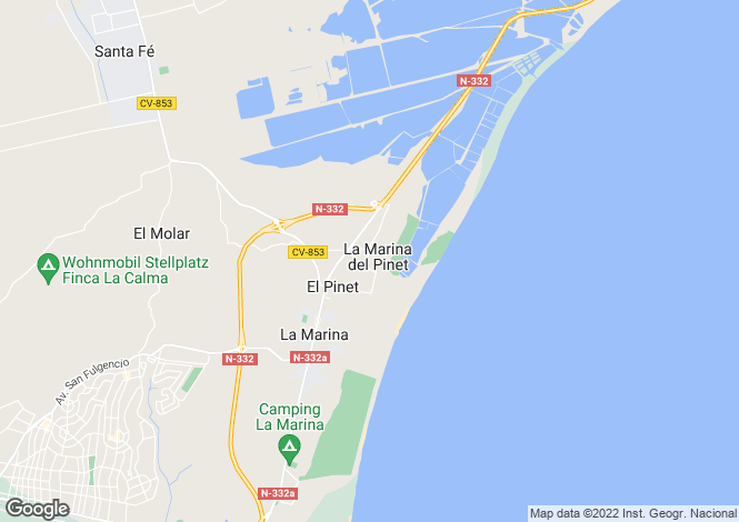 Map for La marina, Alicante