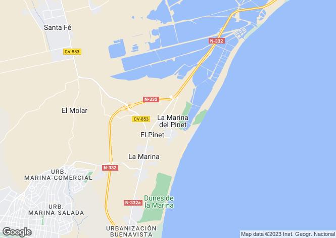 Map for La Marina del Pinet C/ Francia vivienda V128, La Marina, Elche/Elx