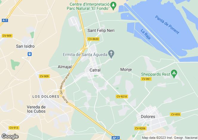 Map for Catral, Alicante, Valencia