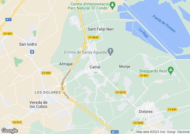 Map for Valencia, Alicante, Catral