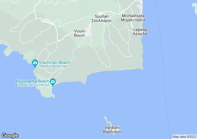 Map for Ionian Islands, Cephalonia, Xi