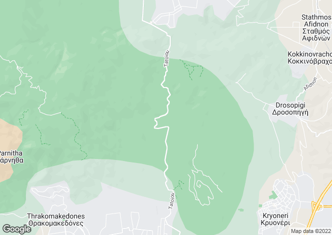 Map for Attica, Afidnes