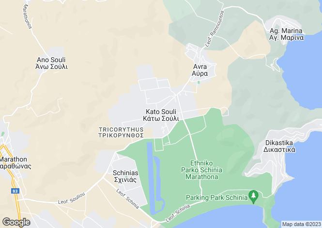 Map for Marathonas, Attica