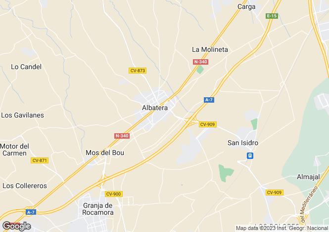 Map for Albatera, Alicante, Spain