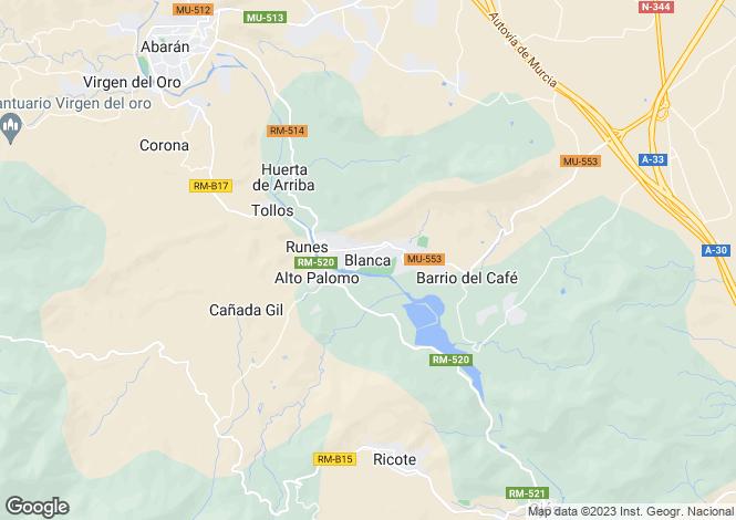 Map for Blanca, Murcia