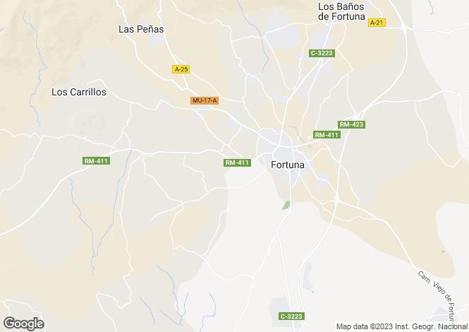 Map for Murcia, Fortuna