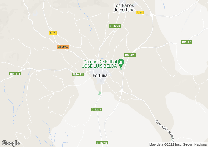 Map for Fortuna, Alicante, Spain
