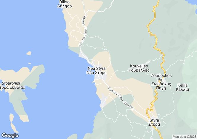 Map for Evvoia, Nea Styra