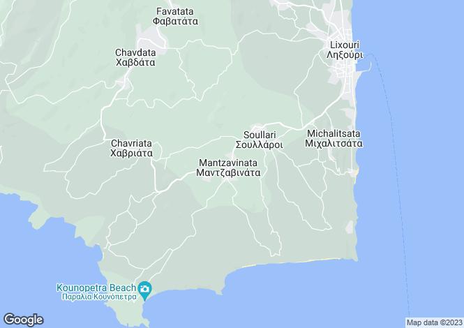 Map for Mantzavinata, Cephalonia, Ionian Islands