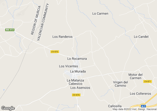 Map for Murcia, La Murada