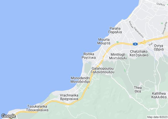 Map for Peloponnese, Achaea, Mintilogli
