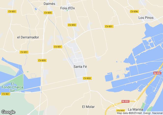 Map for La Hoya, Alicante, Spain