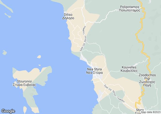 Map for Nea Styra, Evvoia