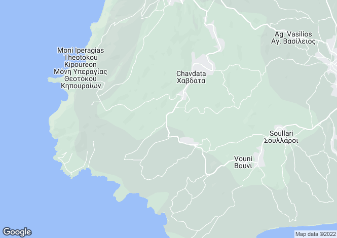Map for Chavdata, Cephalonia, Ionian Islands