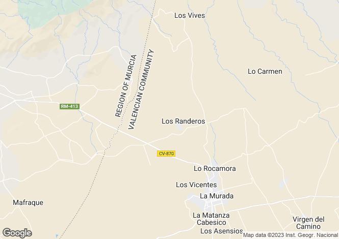 Map for Orihuela, Alicante, Valencia