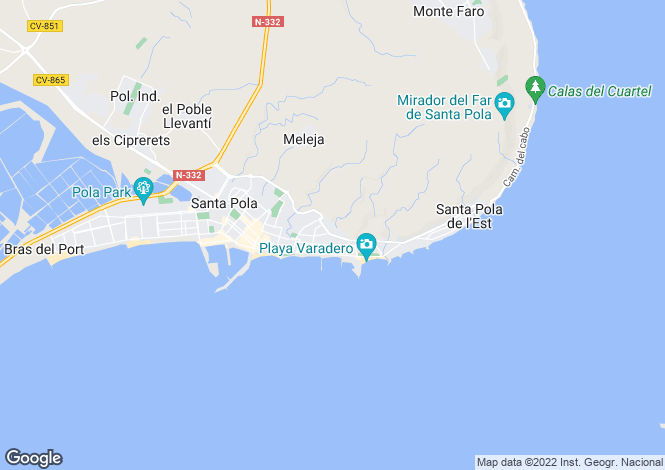 Map for Santa Pola, Alicante, Spain