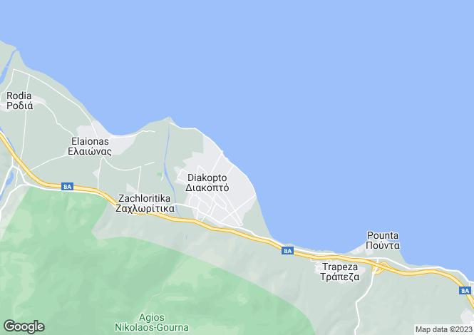 Map for Peloponnese, Achaea, Diakofto