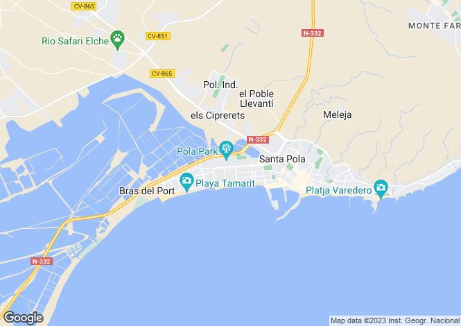 Map for Santa Pola, Alicante, Valencia