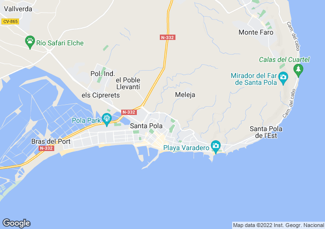 Map for Santa pola, Alicante