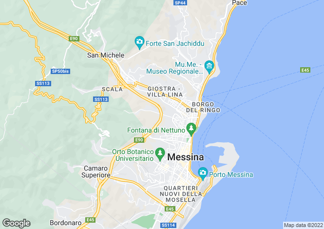 Map for Messina, Messina, Sicily