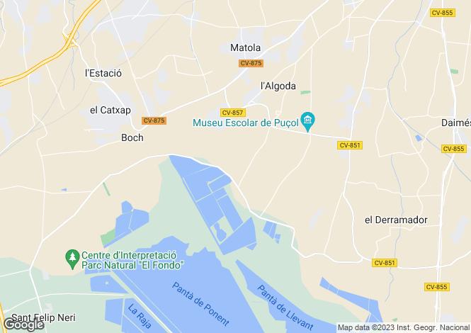 Map for Elche-Elx, Alicante, Valencia
