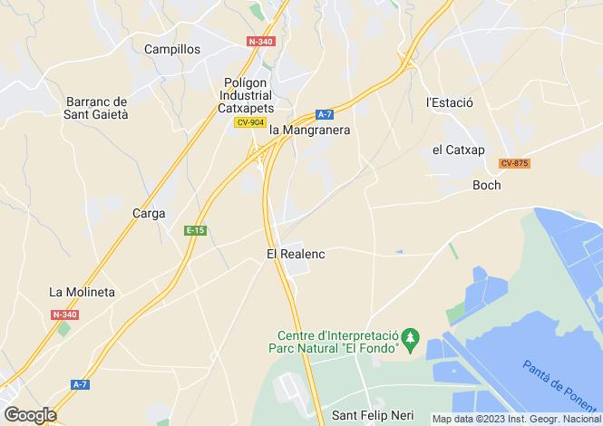 Map for Crevillente, Alicante, Spain