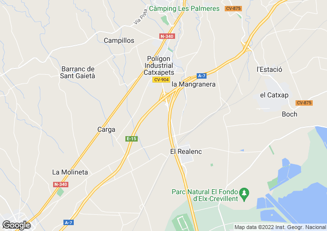Map for Crevillente, Alicante, Valencia
