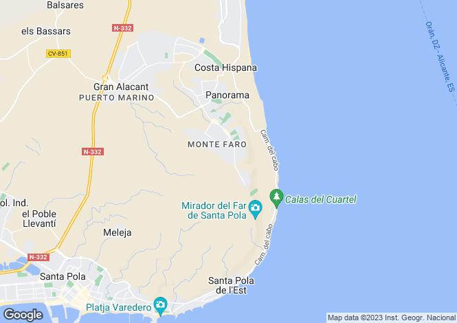 Map for Gran Alacant, Alicante, Spain