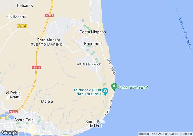 Map for Gran Alacant, Alicante, Valencia