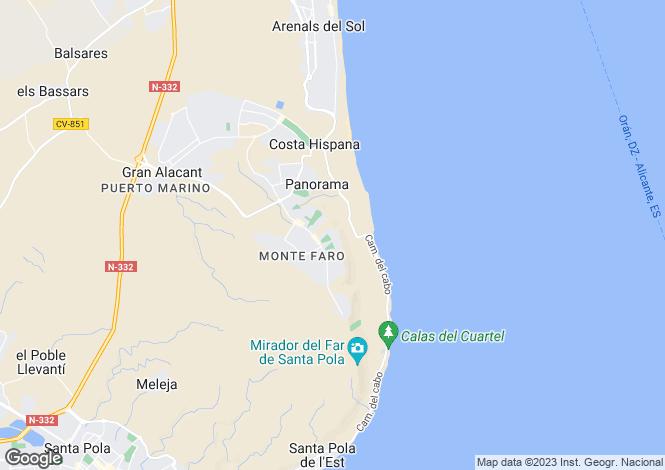 Map for Valencia, Alicante, Gran Alacant