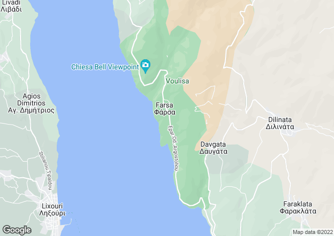 Map for Farsa, Cephalonia, Ionian Islands