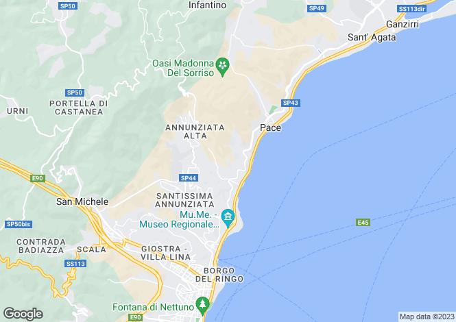 Map for Sicily, Messina, Messina
