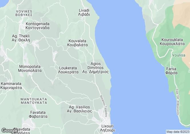 Map for Agios Dimitrios, Cephalonia, Ionian Islands