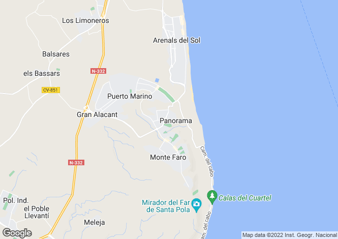 Map for Santa Pola, Alicante, Valencia