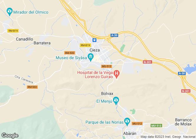 Map for Murcia, Murcia, Murcia