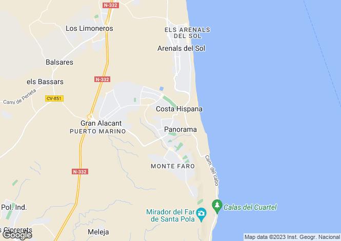 Map for Avda del Mediterrani esquina con C/ Orden Dórico. Residencial Soley Playa Nº8, Santa Pola, Santa Pola