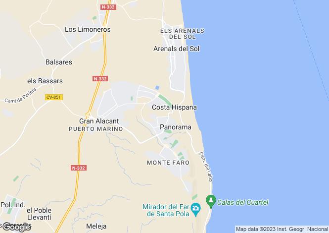 Map for Valencia, Alicante, Santa Pola
