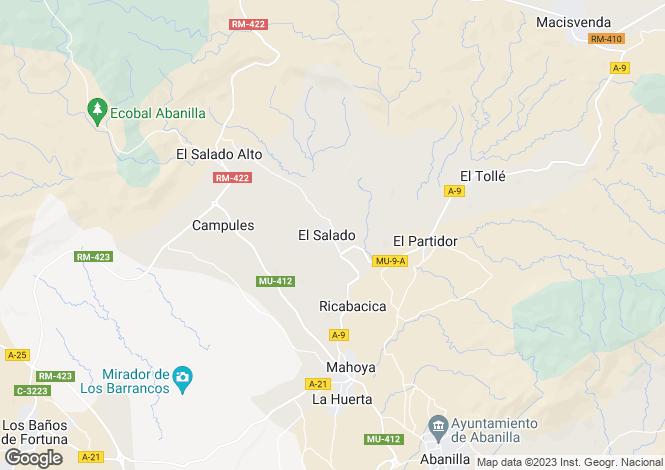 Map for Abanilla, Murcia