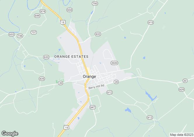 Map for Virginia, Orange County, Orange