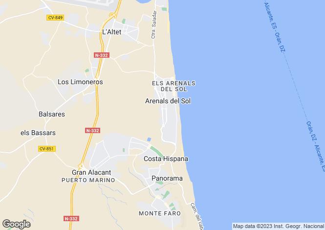 Map for Los Arenales Del Sol, Alicante, Spain