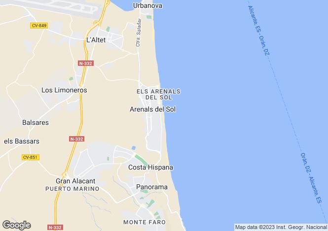 Map for Elche, Elche, Alicante, Spain