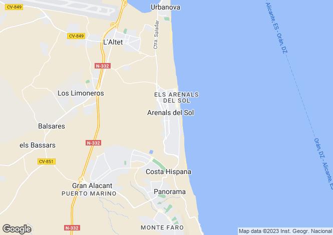 Map for Los Arenales del Sol, Alicante, Valencia
