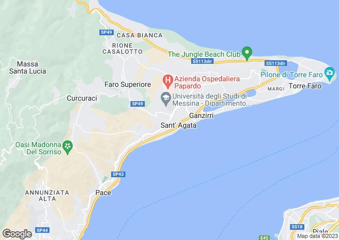 Map for Messina, Messina, Sicily