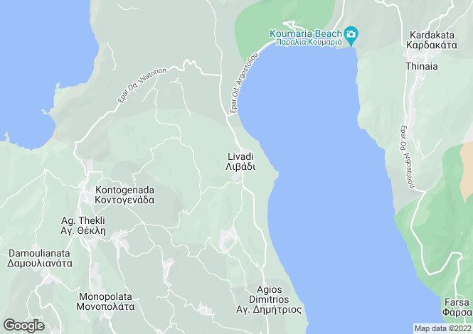 Map for Ionian Islands, Cephalonia, Livadi