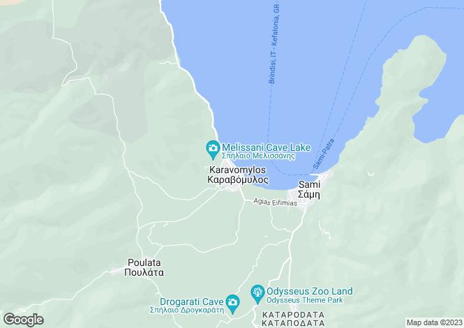 Map for Karavomilos, Cephalonia, Ionian Islands