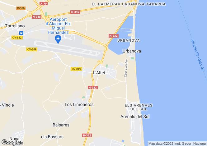 Map for El Altet, Alicante, Spain