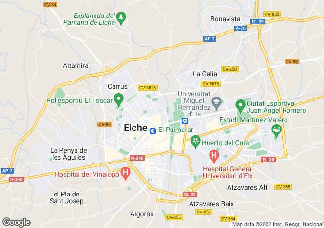 Map for Alicante, Alicante