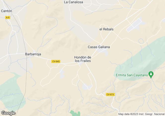 Map for Hondon De Los Frailes, Alicante, Spain