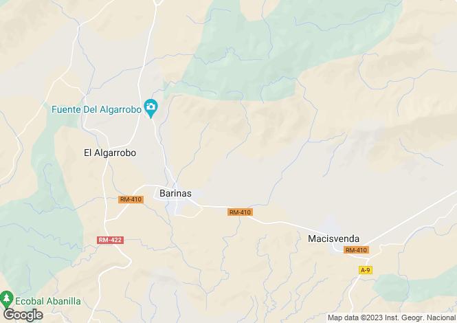 Map for Barinas, Murcia
